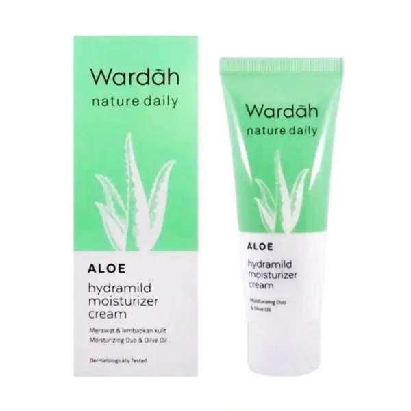 Wardah Nature Daily Aloe Hydramild Moisturizer Cream dan manfaatnya