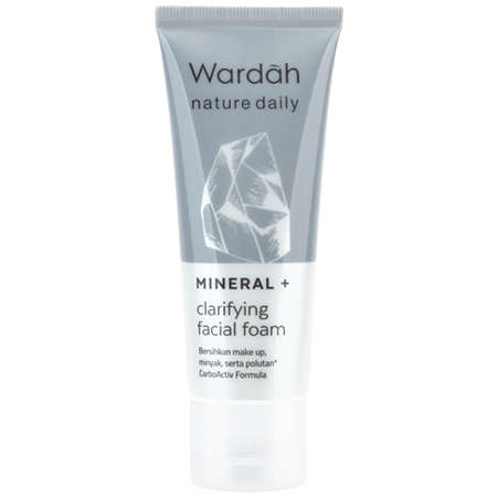 Wardah Nature Daily Mineral + Clarifying Facial Foam dan manfaatnya