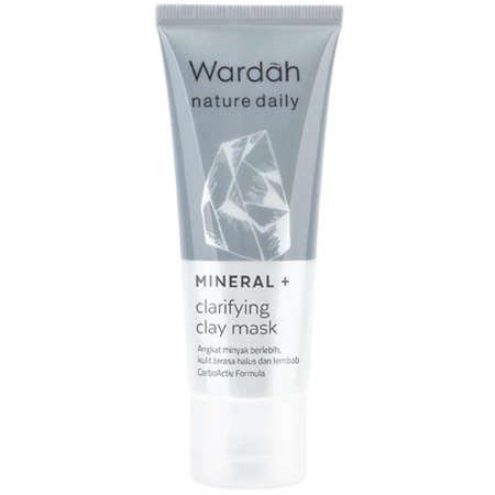 Wardah Nature Daily Mineral + Clarifying Facial Mask dan manfaatnya